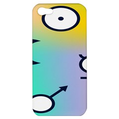 Illustrated Moon Circle Polka Dot Rainbow Apple Iphone 5 Hardshell Case by Mariart