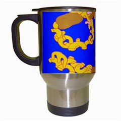 Illustrated 69 Blue Yellow Star Zodiac Travel Mugs (white) by Mariart
