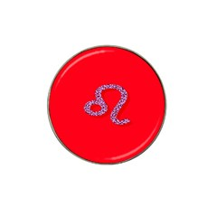 Illustrated Zodiac Red Purple Star Polka Dot Hat Clip Ball Marker by Mariart