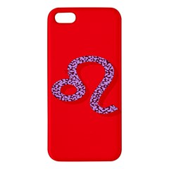 Illustrated Zodiac Red Purple Star Polka Dot Apple Iphone 5 Premium Hardshell Case by Mariart