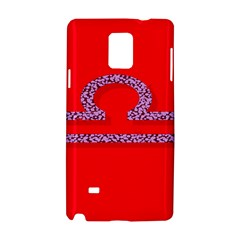 Illustrated Zodiac Red Purple Star Polka Samsung Galaxy Note 4 Hardshell Case by Mariart