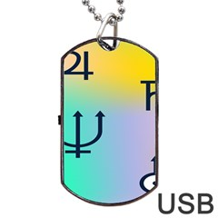 Illustrated Zodiac Star Dog Tag Usb Flash (two Sides) by Mariart