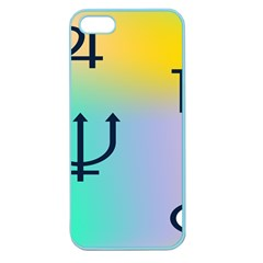 Illustrated Zodiac Star Apple Seamless Iphone 5 Case (color) by Mariart