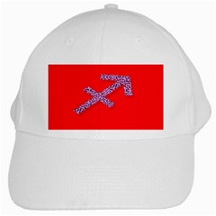 Illustrated Zodiac Star Red Purple White Cap by Mariart