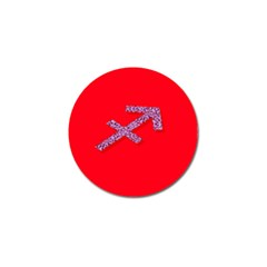 Illustrated Zodiac Star Red Purple Golf Ball Marker (4 Pack) by Mariart
