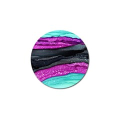 Green Pink Purple Black Stone Golf Ball Marker (10 Pack) by Mariart