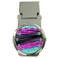 Green Pink Purple Black Stone Money Clip Watches by Mariart