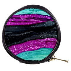 Green Pink Purple Black Stone Mini Makeup Bags by Mariart