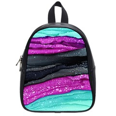Green Pink Purple Black Stone School Bags (small)  by Mariart