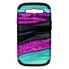 Green Pink Purple Black Stone Samsung Galaxy S III Hardshell Case (PC+Silicone) by Mariart