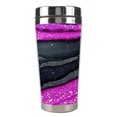 Green Pink Purple Black Stone Stainless Steel Travel Tumblers by Mariart