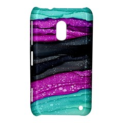 Green Pink Purple Black Stone Nokia Lumia 620 by Mariart