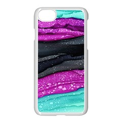 Green Pink Purple Black Stone Apple Iphone 7 Seamless Case (white) by Mariart