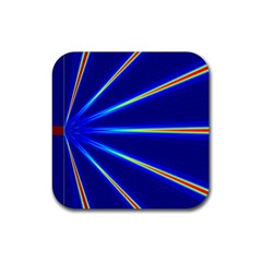 Light Neon Blue Rubber Square Coaster (4 Pack)  by Mariart