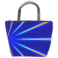 Light Neon Blue Bucket Bags by Mariart