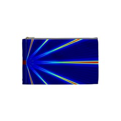 Light Neon Blue Cosmetic Bag (small)  by Mariart