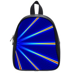 Light Neon Blue School Bags (small)  by Mariart