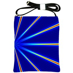 Light Neon Blue Shoulder Sling Bags by Mariart