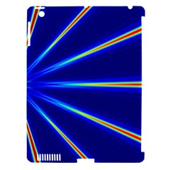 Light Neon Blue Apple Ipad 3/4 Hardshell Case (compatible With Smart Cover) by Mariart