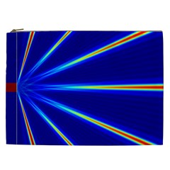Light Neon Blue Cosmetic Bag (xxl)  by Mariart