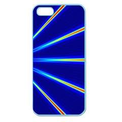 Light Neon Blue Apple Seamless Iphone 5 Case (color) by Mariart