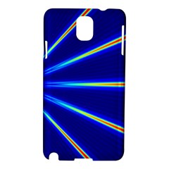 Light Neon Blue Samsung Galaxy Note 3 N9005 Hardshell Case by Mariart