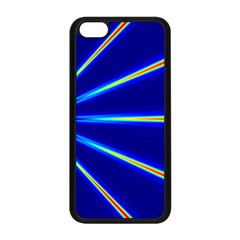 Light Neon Blue Apple Iphone 5c Seamless Case (black) by Mariart