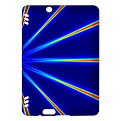 Light Neon Blue Kindle Fire Hdx Hardshell Case by Mariart