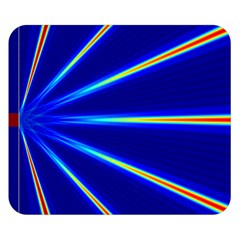 Light Neon Blue Double Sided Flano Blanket (small)  by Mariart