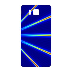 Light Neon Blue Samsung Galaxy Alpha Hardshell Back Case by Mariart