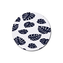 Leaf Summer Tech Rubber Coaster (round)  by Mariart