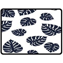 Leaf Summer Tech Double Sided Fleece Blanket (large)  by Mariart