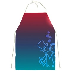 Love Valentine Kiss Purple Red Blue Romantic Full Print Aprons by Mariart