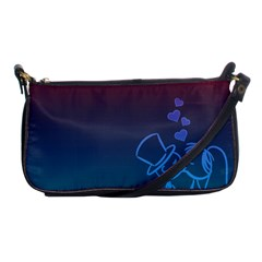 Love Valentine Kiss Purple Red Blue Romantic Shoulder Clutch Bags by Mariart