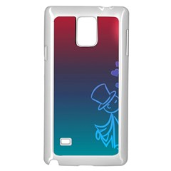 Love Valentine Kiss Purple Red Blue Romantic Samsung Galaxy Note 4 Case (white) by Mariart