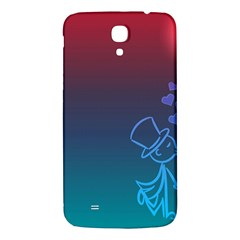 Love Valentine Kiss Purple Red Blue Romantic Samsung Galaxy Mega I9200 Hardshell Back Case by Mariart