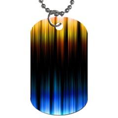 Light Orange Blue Dog Tag (one Side) by Mariart