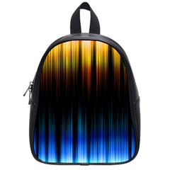 Light Orange Blue School Bags (small)  by Mariart