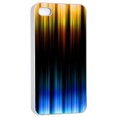 Light Orange Blue Apple Iphone 4/4s Seamless Case (white) by Mariart
