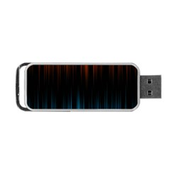 Light Orange Blue Portable Usb Flash (two Sides) by Mariart
