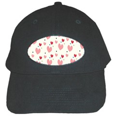 Love Heart Pink Polka Valentine Red Black Green White Black Cap by Mariart