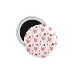 Love Heart Pink Polka Valentine Red Black Green White 1 75  Magnets by Mariart