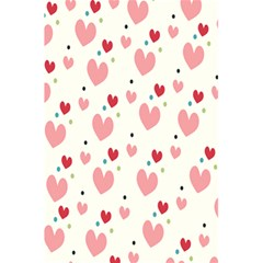 Love Heart Pink Polka Valentine Red Black Green White 5 5  X 8 5  Notebooks by Mariart