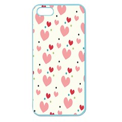 Love Heart Pink Polka Valentine Red Black Green White Apple Seamless Iphone 5 Case (color) by Mariart