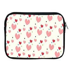 Love Heart Pink Polka Valentine Red Black Green White Apple Ipad 2/3/4 Zipper Cases by Mariart