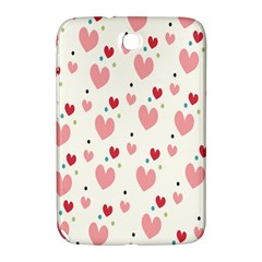 Love Heart Pink Polka Valentine Red Black Green White Samsung Galaxy Note 8 0 N5100 Hardshell Case  by Mariart