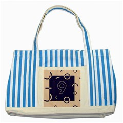 Number 9 Blue Pink Circle Polka Striped Blue Tote Bag by Mariart