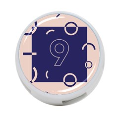 Number 9 Blue Pink Circle Polka 4 Port Usb Hub (two Sides)  by Mariart