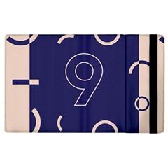 Number 9 Blue Pink Circle Polka Apple Ipad 2 Flip Case by Mariart