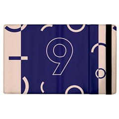 Number 9 Blue Pink Circle Polka Apple iPad 3/4 Flip Case by Mariart
